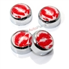 4 Chrome Hot Lips License Plate Fastener Screw Bolt Caps for Car-Truck-Bike