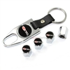 Chevy Corvette Z06 505hp Chrome Tire Valve Caps & Key Chain Gift Set
