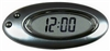 LED Oval Qtz Black Digital Clock for Car-Truck-Bike-Scooter Interior Dash