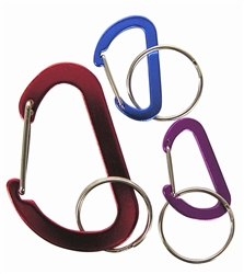 Flat D-Ring Key Chain Ring Belt Clip Carabiner Hook - 3 Pack