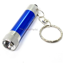 Premium LED Flash Light Mini Key Chain Ring - Batteries included