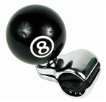 Universal Pool 8 Ball Steering Wheel Spinner Suicide Knob Handle for Car/Truck