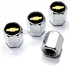 Chevrolet Gold Logo Chrome ABS Tire Valve Stem Caps