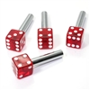 4 Clear Red Dice Interior Door Lock Knobs Pins for Car-Truck-HotRod-Classic