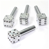 4 Silver Chrome Dice Interior Door Lock Knobs Pins for Car-Truck-HotRod-Classic