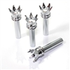 4 Custom Chrome Crown Interior Door Lock Knobs Pins for Car-Truck-HotRod-Classic