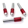 4 Chrome Red Bullet Interior Door Lock Knobs Pins for Car-Truck-HotRod-Classic