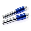 2 Chrome Blue Bullet Interior Door Lock Knobs Pins for Car-Truck-HotRod-Classic