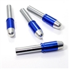4 Chrome Blue Bullet Interior Door Lock Knobs Pins for Car-Truck-HotRod-Classic