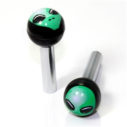 2 Universal Alien Ball Interior Door Lock Knobs Pins for Car-Truck-HotRod-Clasic