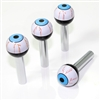 4 Universal Blue EyeBall Interior Door Lock Knobs Pins for Car-Truck-HotRod