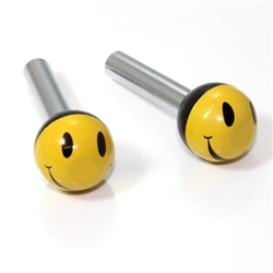 2 Universal Smile Face Ball Interior Door Lock Knobs Pins for Car-Truck-HotRod