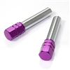 2 Purple Aluminum Chrome Interior Door Lock Knobs Pins for Car-Truck-HotRod