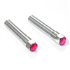 2 Pink Diamond Bling Chrome Interior Door Lock Knobs Pins for Car-Truck-HotRod