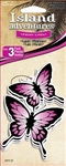 3 Pink Butterfly Fresh Linen Hanging Tree Style Air Fresheners for Car-Truck etc