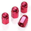 4 Red Hex Dome Wheel Tire Pressure Air Stem Valve Caps for Auto-Car-Truck