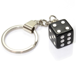 Black Dice Keychain