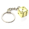 Gold Dice Keychain