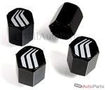 Mercury Logo Black ABS Tire Valve Stem Caps