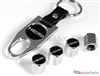 Hemi Black Logo Chrome ABS Tire Valve Stem Caps & Key Chain