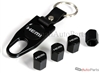 Hemi Logo Black ABS Tire Valve Stem Caps & Key Chain