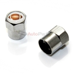 Football Metal Chrome Tire Valve Stem Caps