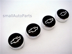 Chevrolet Black Logo Chrome ABS License Plate Frame Screw Caps