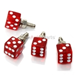 Clear Red Dice License Plate Frame Fasteners Bolts