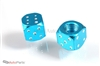 Blue Aluminum Dice Tire Valve Stem Caps
