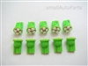 Green T10 4 SMD LED Light Bulbs