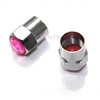 Pink Crystal Diamond Bling Tire Valve Stem Caps
