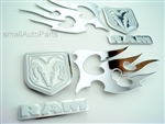 Dodge Stainless Steel Chrome Emblems