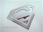 Superman Stainless Steel Chrome Emblems