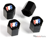 Buick Logo Black ABS Tire Valve Stem Caps