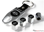 Chevrolet Impala Black Logo Chrome ABS Tire Valve Stem Caps & Key Chain