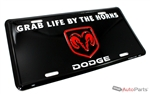 Dodge Ram Aluminum License Plate