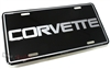 Chevy Corvette Aluminum License Plate