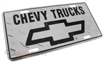 Chevy Trucks Aluminum License Plate