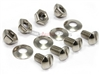 Metal Chrome License Plate Bolts