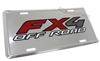 Ford Fx4 Off Road Aluminum License Plate Tag