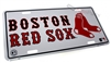 Boston Red Sox Aluminum License Plate Tag