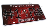 Tampa Bay Buccaneers #1 Fan NFL Aluminum License Plate Tag