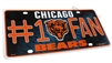 Chicago Bears #1 Fan NFL Aluminum License Plate Tag
