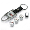 Chevrolet Corvette C5 Chrome ABS Tire Valve Stem Caps & Key Chain