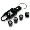 Dodge Viper Logo Black ABS Tire Valve Stem Caps & Key Chain