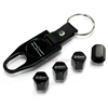 Ford Thunderbird New Logo Black ABS Tire Valve Stem Caps & Key Chain