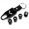 Pontiac Trans Am Logo Black ABS Tire Valve Stem Caps & Key Chain