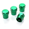 Green Aluminum Tire Valve Stem Caps