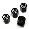 Mercury Ford Cougar Logo Black ABS Tire Valve Stem Caps