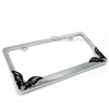 Butterfly Chrome Metal License Plate Frame